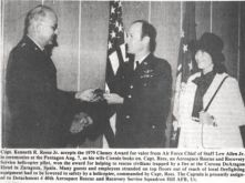 Captain Kenneth R. Rees Receives Award